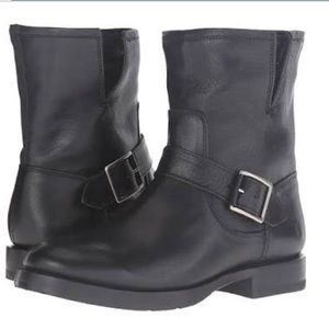 Frye Natalie Short Engineer boots.